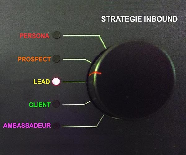 représentation des niveaux progressifs d'engagement de l'internaute cible (persona) à l'ambassadeur